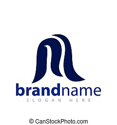 iniziale, m, vettore, lettera, logotipo, icona