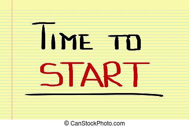 inizio, concetto, tempo