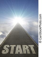 inizio, strada aperta