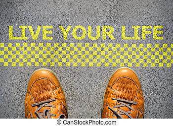 inizio, vita, concetto, vivere, tuo