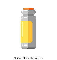 Injection ampoule icon in flat style. Medical illustration...