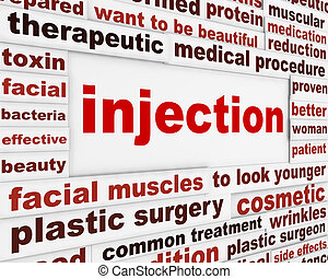 injection, chirurgie, plastique