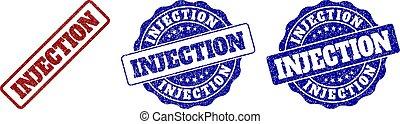 INJECTION Grunge Stamp Seals