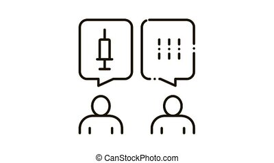injection protest Icon Animation. black injection protest animated icon on white background