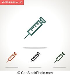 injection vector icon isolated on white background