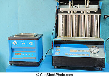 injector, διαγνωστικός , και , επισκευάζω , μηχανή