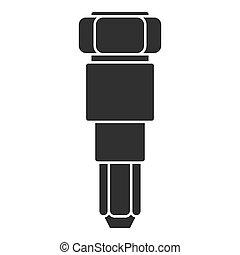 injector, automobile, icona, stile, semplice