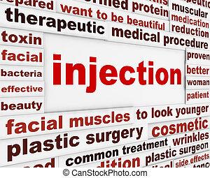 injektion, kirurgi, plastik