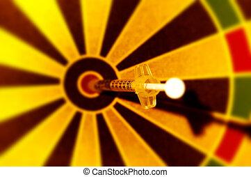 injektionssprøjte, dart
