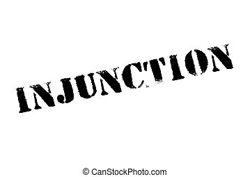 Injunction typographic stamp. Typographic sign, badge or ...