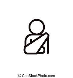 Injured arm icon