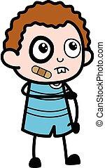 Injured Cartoon Kid