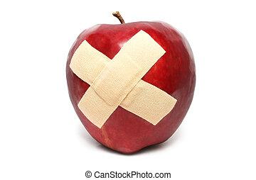 Injured Red Apple