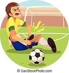 Injured Soccer Player - Soccer player got injured on his ...