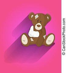 Injured Teddy Bear Vector
