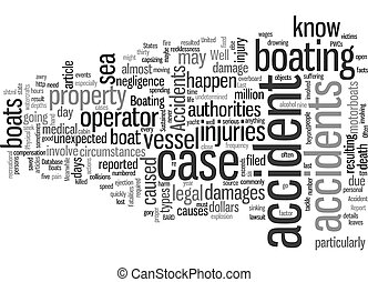 Injuries Sustained from Accidents on Boats text background ...
