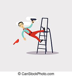 Injury at Work Insurance Vector Illustartion - Injury at...