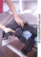 Injury leg brace support