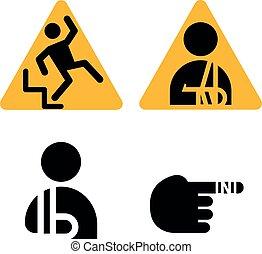 Injury sign. Vector illustration