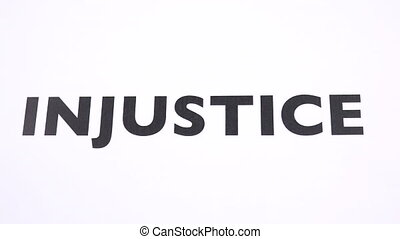INJUSTICE prohibition symbol, refuse unfairness, inequality...