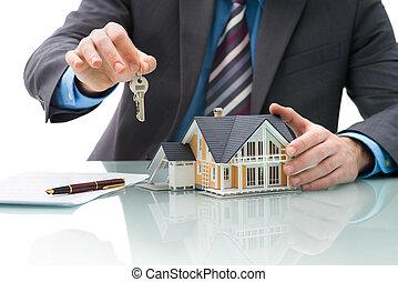 inköp, överenskommelse, för, hus