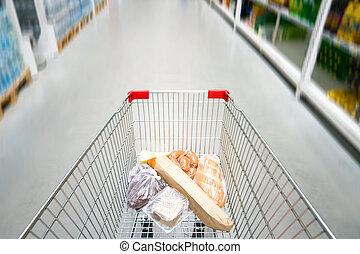 inköp, kärra,  Supermarket