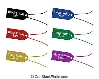 inköp, krydda, pris, fredag, etikett, svart, jul