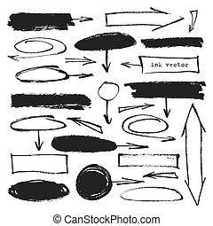 Ink arrows frames set