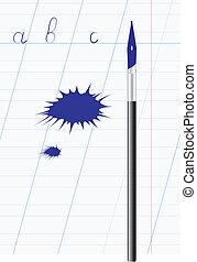 Ink blot.