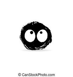 Ink blot monster