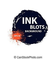 Ink blots background