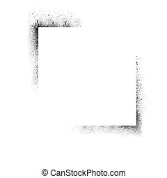 Ink blots corners - Abstract white background with black ink...