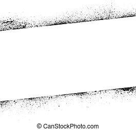 Ink blots frame banner