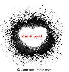 Ink blots heart