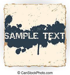 Ink blots on old paper
