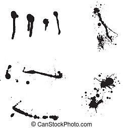 Ink blots - Set of black ink blots splashes. eps10