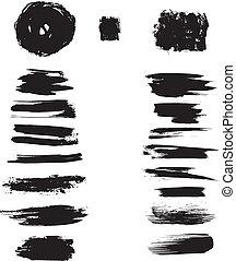 Ink blots stroke