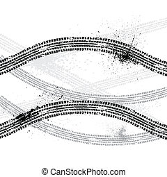 Ink blots tire track - Tire tracks isolated on white with ...