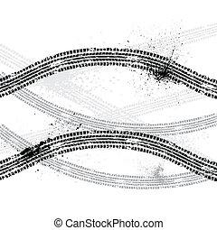 Ink blots tire track