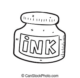 ink bottle doodle