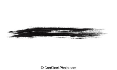 Ink Brush Stroke Set whit Alpha channel. Perfect for motion...
