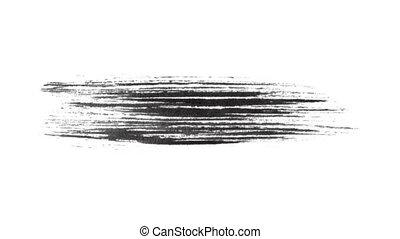 Ink Brush Stroke Set whit Alpha - transparency channel. -...