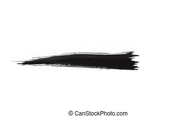 Ink Brush Stroke Set whit Alpha (transparency) channel....