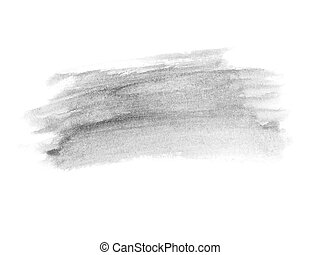 ink brush strokes isolated on white