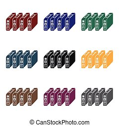 Ink cartridges in  black style isolated on white background. Typography symbol stock vector illustration.