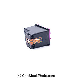 Ink Cartridges on White Background