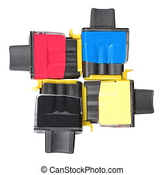 Ink cartridges on white