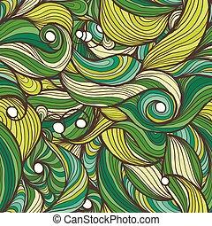 Ink doodle waves.