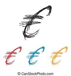 Ink drawn Sketchy Euro Money Symbol - Sketchy Euro Money ...