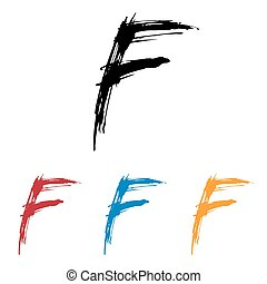 Ink drawn typography Sketchy Letter F - Sketchy Letter F in ...